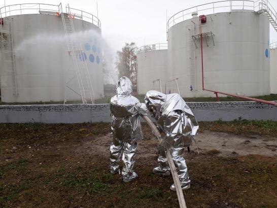 В Коломне тушили нефтебазу