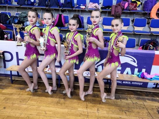 Коломенские гимнастки снова на пьедестале
