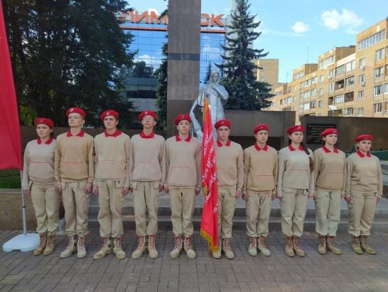 Юные патриоты показали строевые приемы