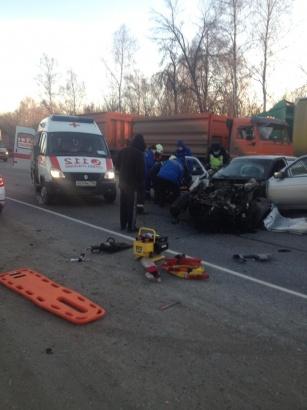 На трассе в Луховицах столкнулись два автомобиля